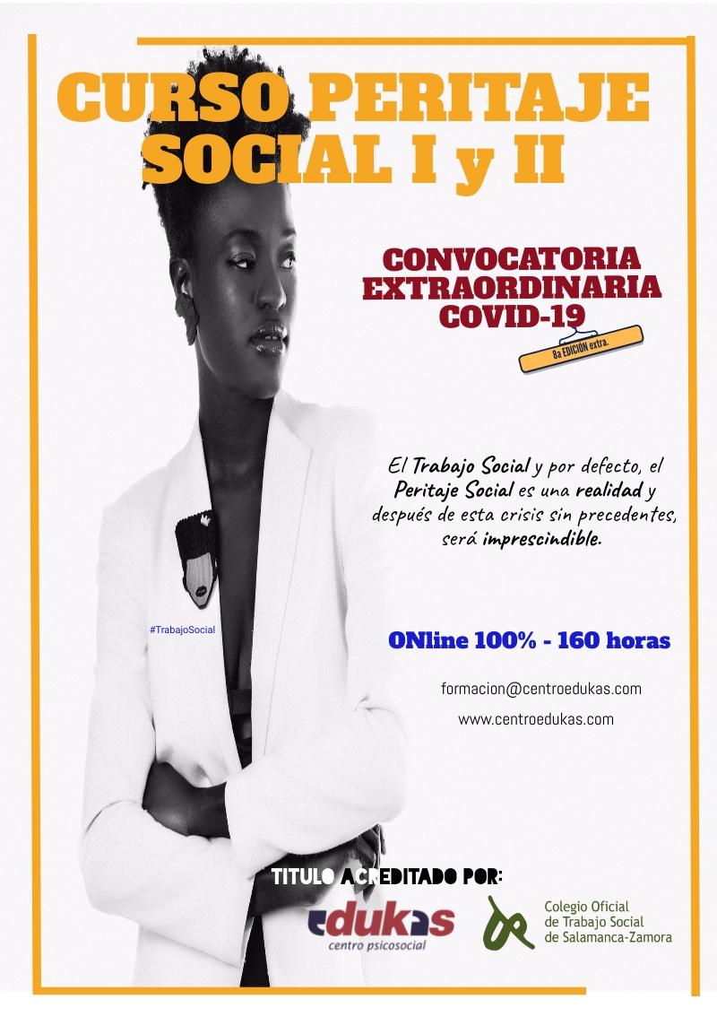 Convocatoria EXTRAordinaria - Cursos PERITAJE SOCIAL I y II.