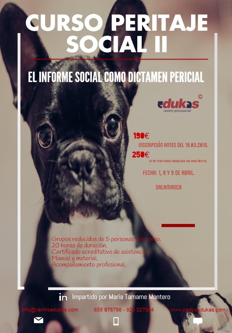 Curso PERITAJE SOCIAL II. Informe Social como Dictamen Pericial. #Salamanca